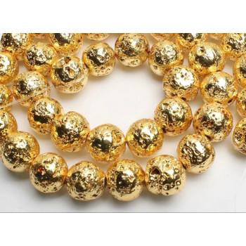 Бусины Лава (золото)